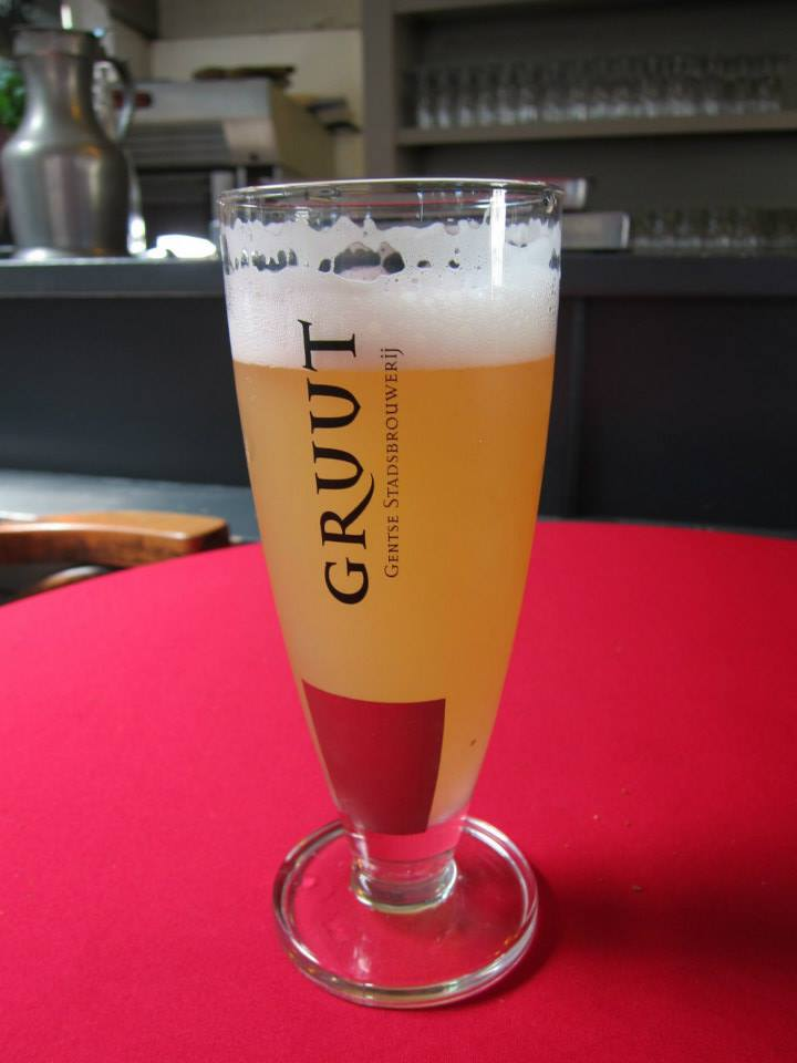 My glass of wheat beer