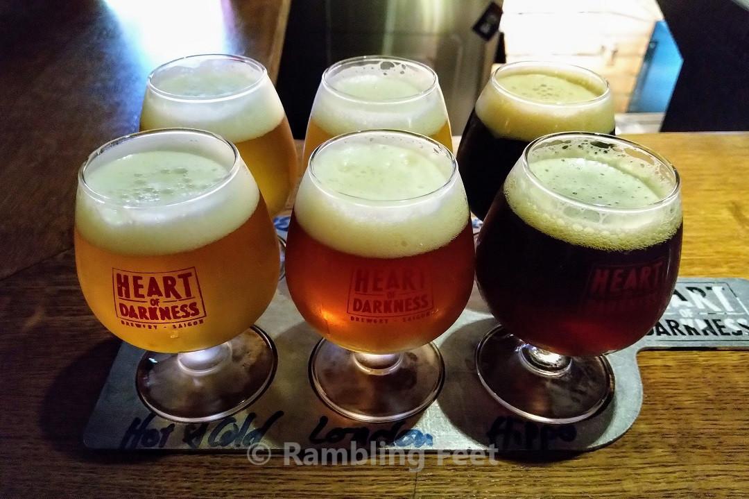Heart of Darkness beer in glasses