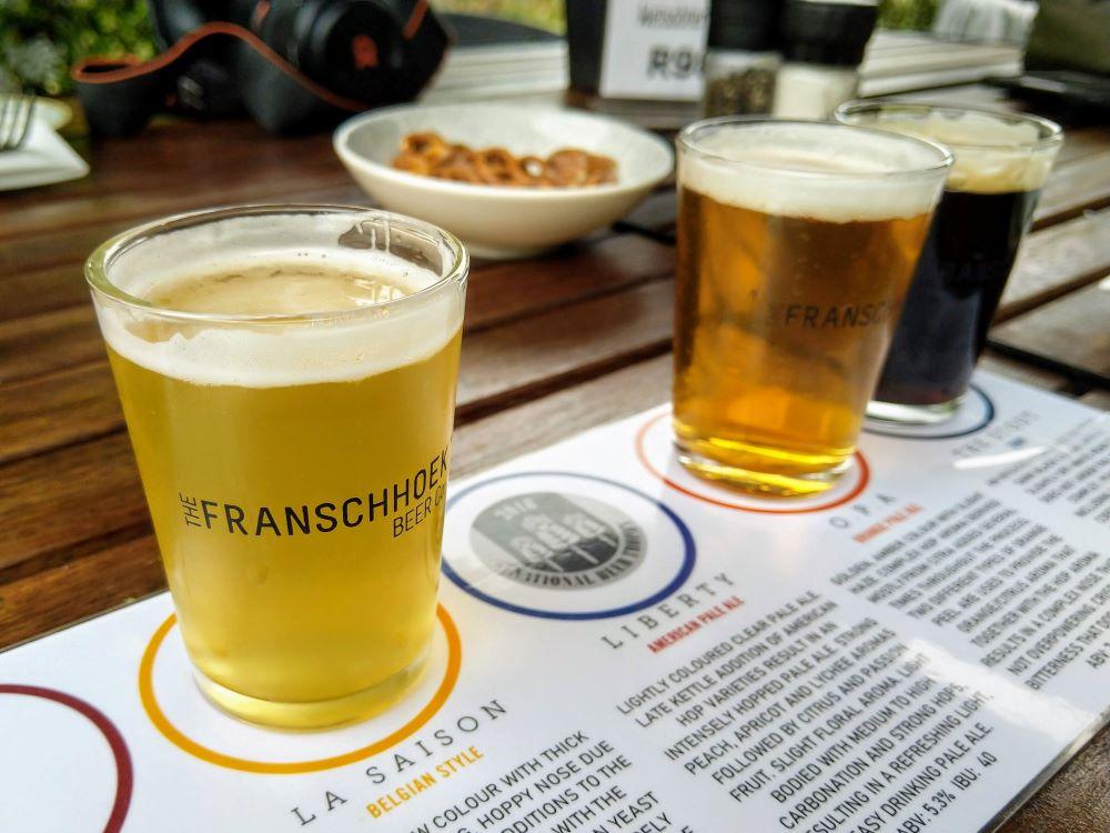 Franschhoek Beer Company flight