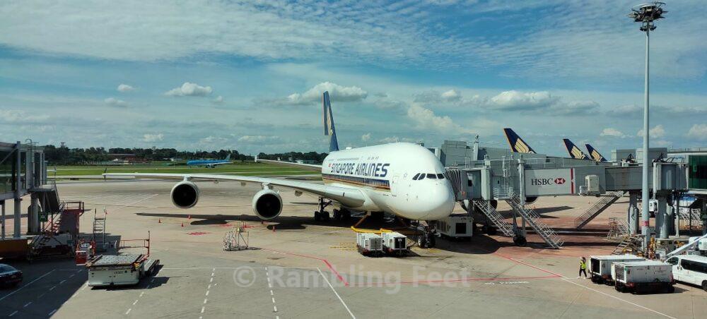 Singapore Airlines A380 superjumbo aeroplane